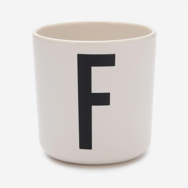 DESIGN LETTERS MELAMINE CUP F