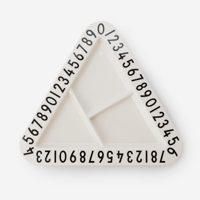 DESIGN LETTERS MELAMINE TRIANGLE SNACKPLATE