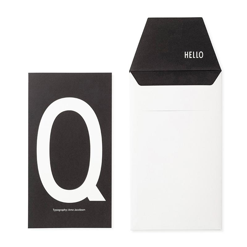 DESIGN LETTERS+Arne Jacobsen GREETING CARD Q