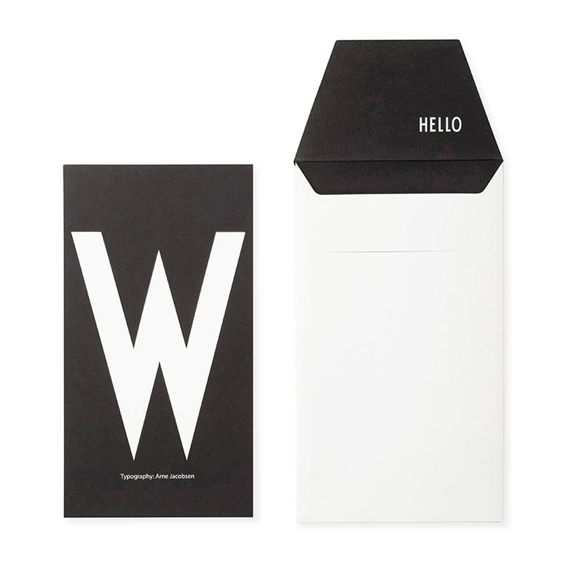 DESIGN LETTERS+Arne Jacobsen GREETING CARD W