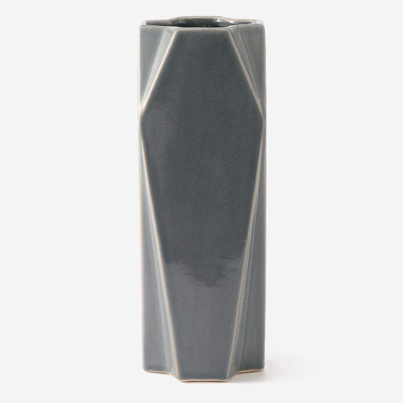 FLUTED L VASE DOVE GREY